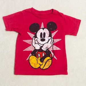 Mickey Mouse Size 2t Short Sleeve Shirt